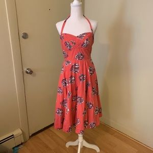 ANTHROPOLOGIE Coral Party Dress